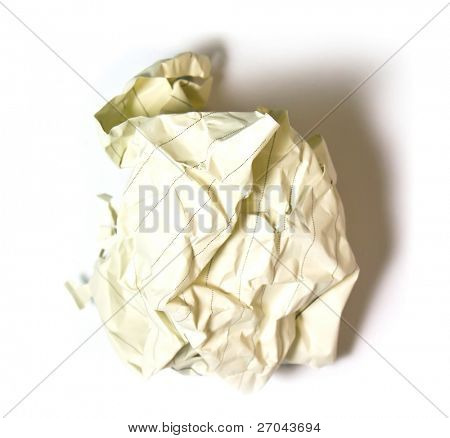 waste paper on white background