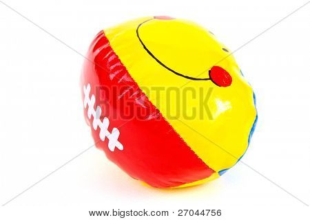 Colourful (Red, Yellow) Toy Ball On White Background