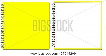 collection of yellow sketch book