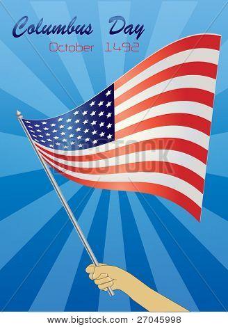 Vacaciones: día de la raza en Estados Unidos (celebra el aniversario de la llegada de Christopher Columbus