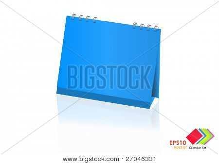 A set of colorful calendar with blank space. Vector illustration. (blue)