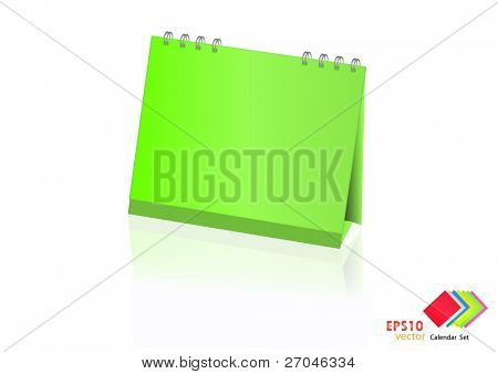 A set of colorful calendar with blank space. Vector illustration. (green)