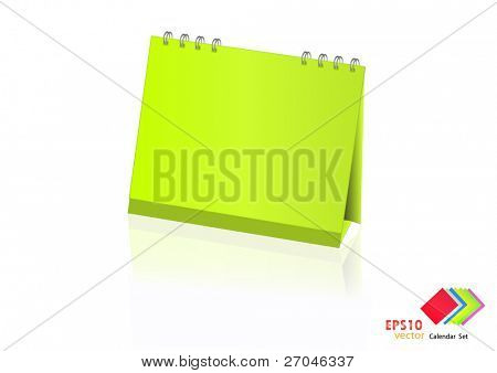 A set of colorful calendar with blank space. Vector illustration. (light green)