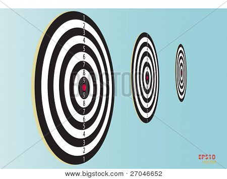 Dartboard. Vector illustration.