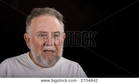 Old Man Looking Angry