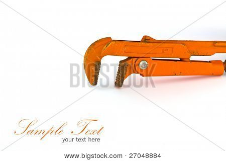 Tool on white background with copy-space.
