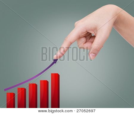 Hand showing graph