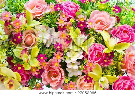 Beautiful of artificial flowers