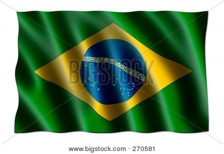 Flag Of Brazil (3d)
