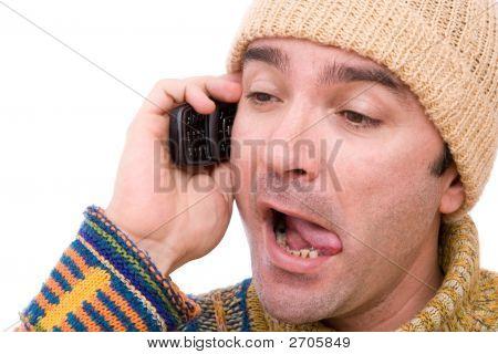 Mentiroso en el teléfono