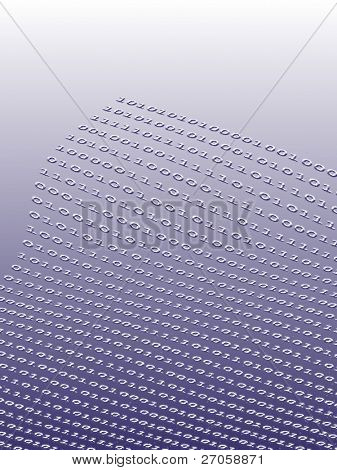 binary numbers background with color effect