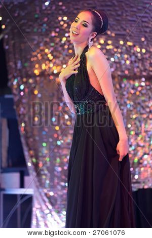 transsexual singer stage performance, pattaya, thailand