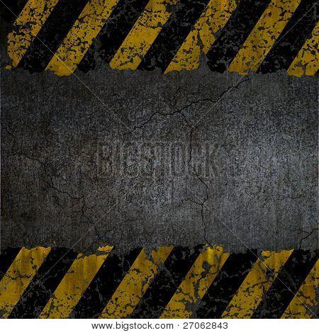 Warnung Hintergrundstruktur
