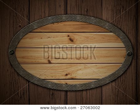 alte Holzplatte auf die Holzwand-grunge