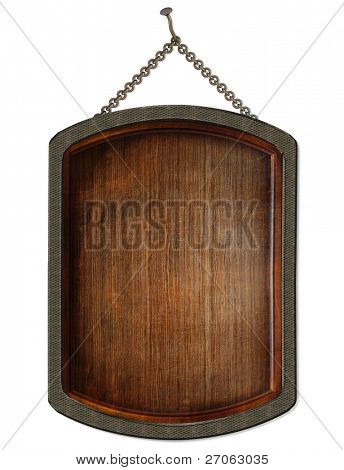 wooden board. isolated on white.