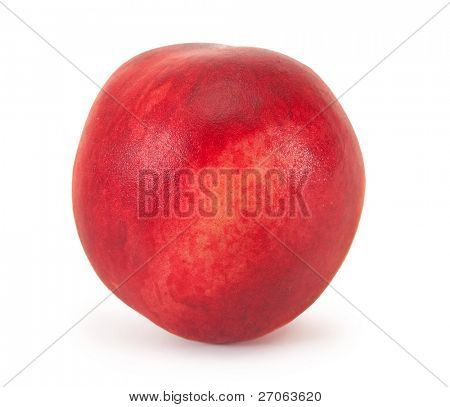 ripe peach isolated on a white background