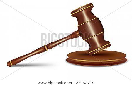 judges gavel. vector