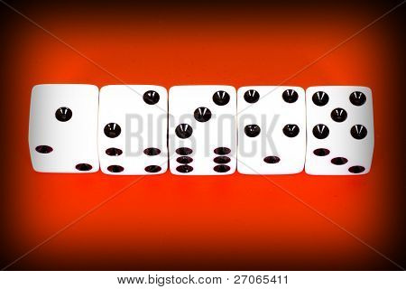 set of five dices