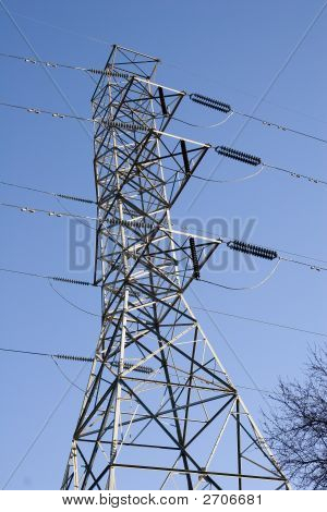 Power Tower Against Blue