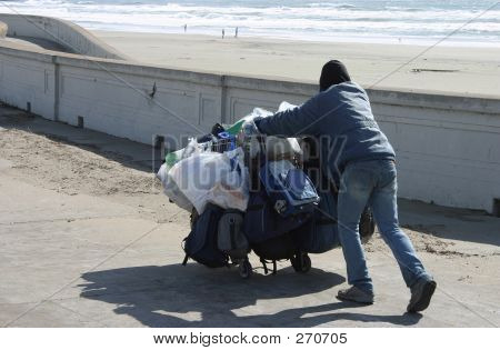 Homeless At The Beach