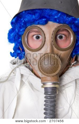 Person In Gas Mask