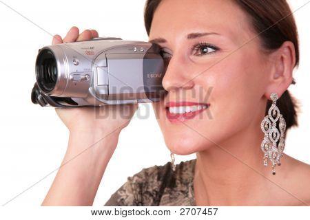 Mulher com filmadora