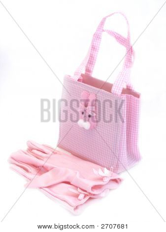 Easter Bunny Purse And Gloves
