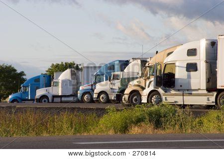 Line Of Trucks 2