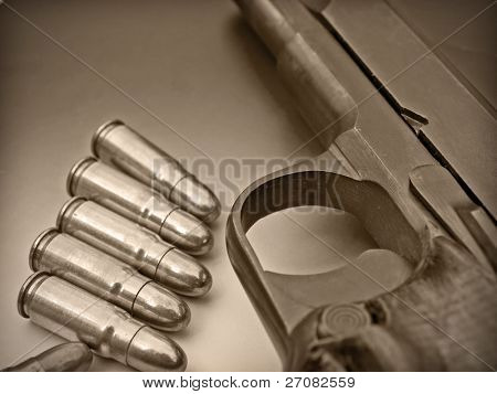 the trigger and bullets