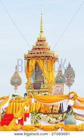 Shrine With Buddha Relic In Thailand