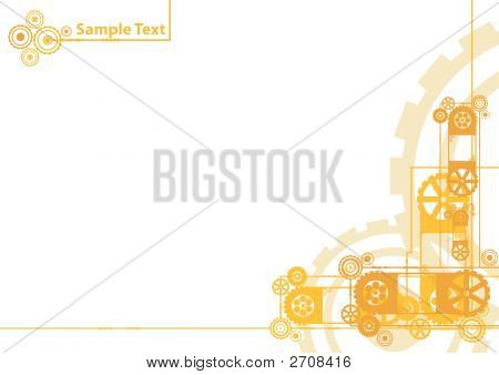 Clockwork Background With Sample Logo