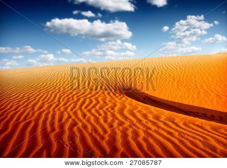 Sand dunes landscape