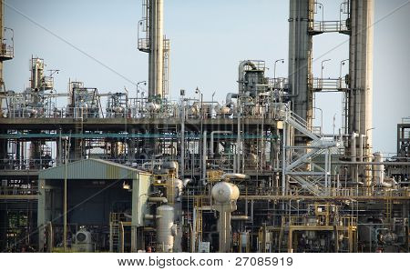 oil refinery, industrial plant