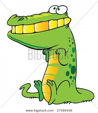 Smiling crocodile