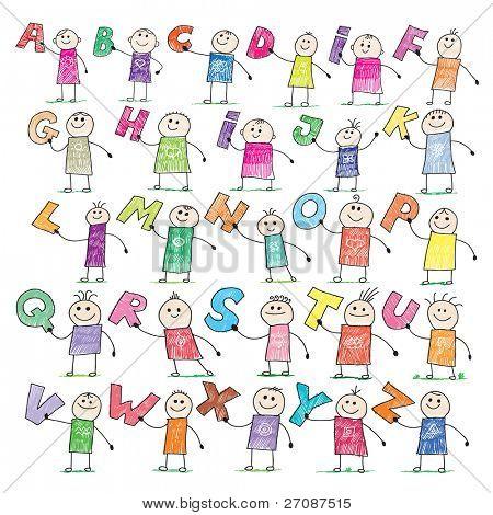 Gekritzel alphabet