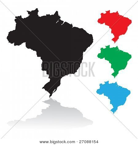 State of Brazil silhouette
