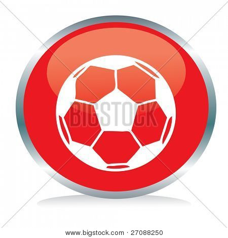 Soccer ball button sign