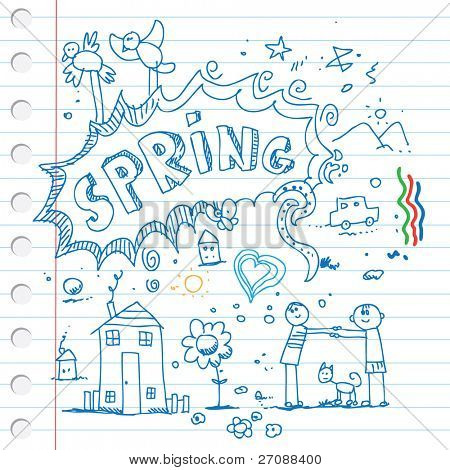 Frühling Skizzen