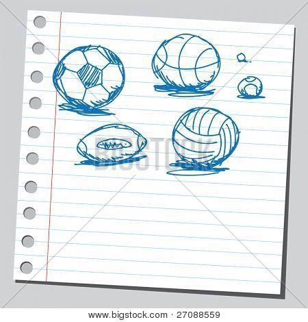 Scribble balls