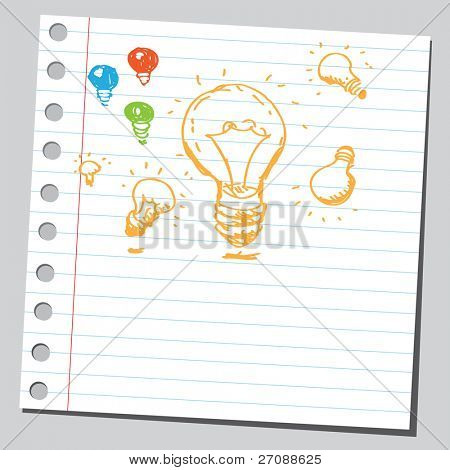 Scribble flashbulbs