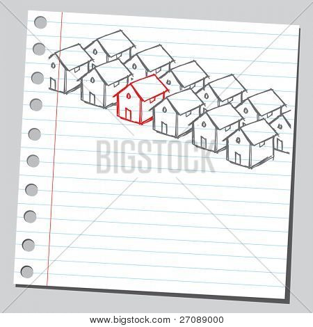 Scribble houses