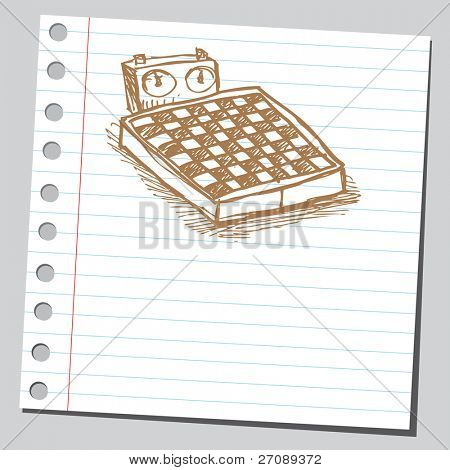 Scribble chess table