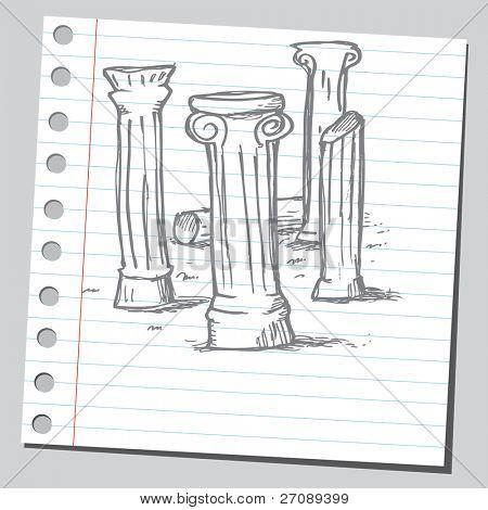 Columnas de garabato