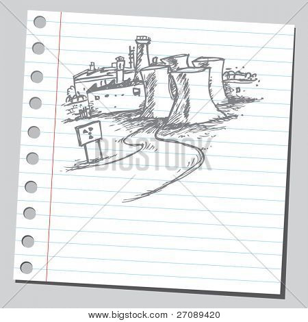 Scribble nuclear power station