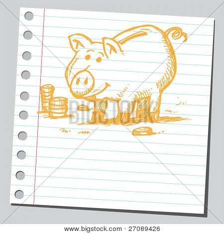Scribble piggy bank