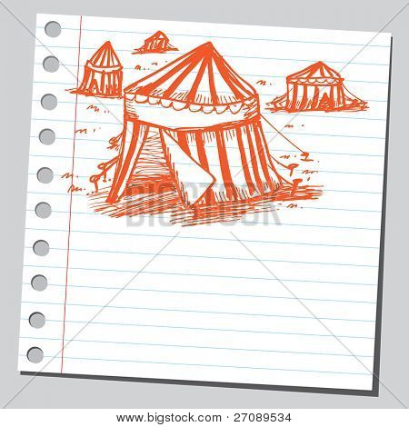 Scribble circus tents