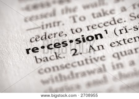 Dictionary Series - Economics: Recession