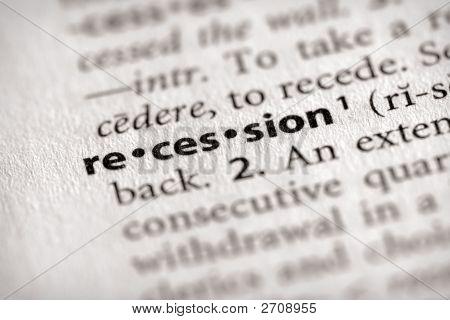 Dicionário série - economia: recessão