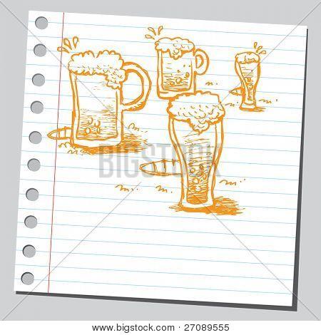 Scribble beer mugs
