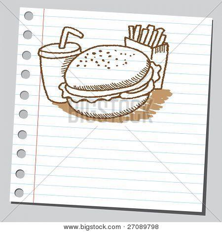 Scribble fast food